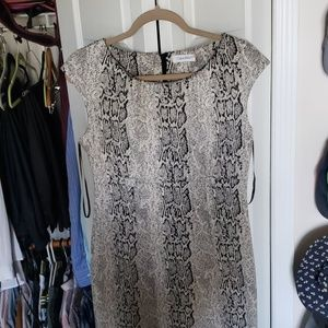 Calvin Klein snake print dress